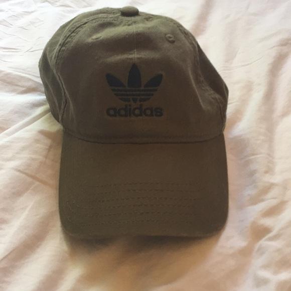 373165439d4 adidas Accessories - Olive Green Adidas Baseball Hat